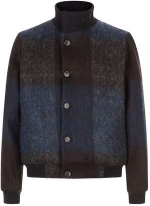 Stephan Schneider Check Wool Bomber Jacket