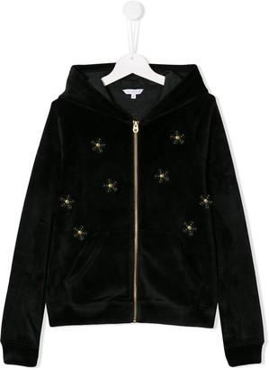 Little Marc Jacobs embellished flowers hoodie