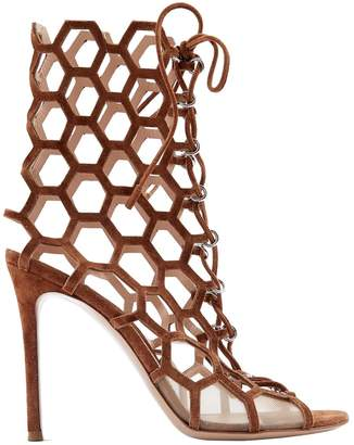 Gianvito Rossi Brown Suede Sandals