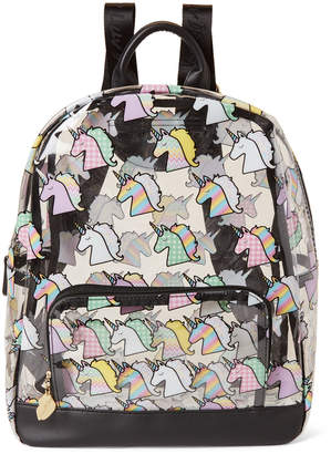 Betsey Johnson Luv Betsey By Unicorn Print Clear Backpack