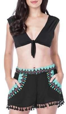 Trina Turk Key Solids Cap Sleeve Bikini Top