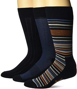 Dockers 3 Pack Ultimate Fit - Elevated Dress Allover Stripe Crew Socks