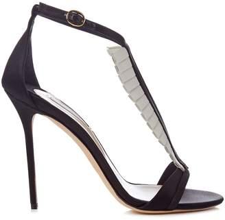 Olgana Paris La Sensuelle leather and satin sandals