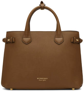 Burberry Brown and Tan Medium Banner Tote