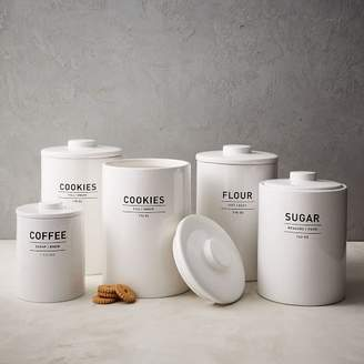 west elm Utility Kitchen Canisters - White