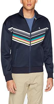 Original Penguin Men's Striped Print Track Jacket