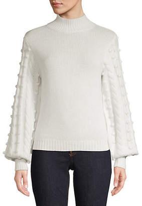 Autumn Cashmere Balloon-Sleeve Sweater