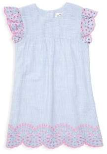 Vineyard Vines Little Girl's& Girl's Striped Eyelet Shift Dress