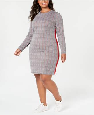 Planet Gold Trendy Plus Size Printed Bodycon Dress