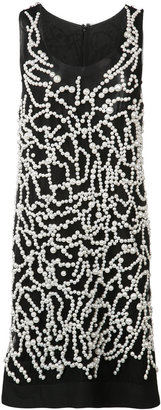 Vera Wang pearl embroidered tank dress $2,495 thestylecure.com