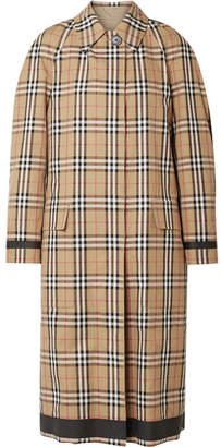Burberry Reversible Checked Cotton-gabardine Coat - Beige