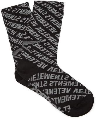 Vetements Logo-intarsia socks