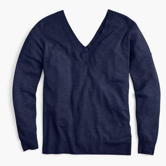 J.Crew Italian featherweight cashmere double V-neck sweater