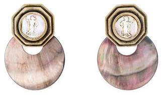 Stephen Dweck Mother of Pearl Convertible Clip-On Earrings