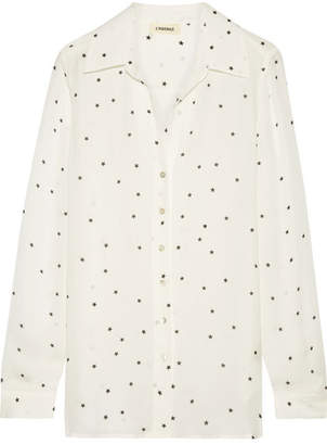 L'Agence Nina Printed Silk-georgette Shirt - Ivory