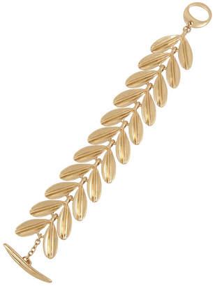 Robert Lee Morris Soho Sculptural Leaf Link Bracelet