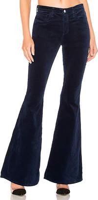 L'Agence Solana Big Flare Velvet Pant