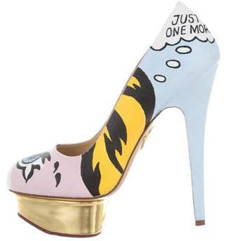 Charlotte Olympia Printed Dolly Pumps