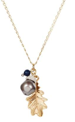 Lapis Nadia Minkoff - Acorn Charm Necklace Gold with Blue