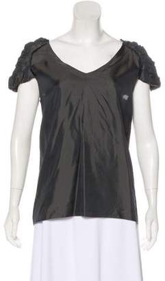 Marni Short Sleeve V-Neck Top
