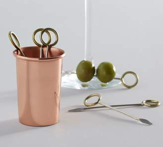Pottery Barn Copper Cocktail Picks Set