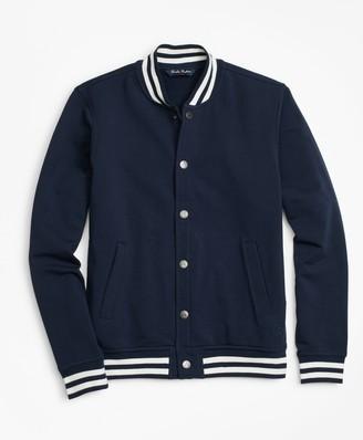 Brooks Brothers Boys Knit Fleece Baseball Jacket