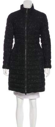 Valentino Lace-Accented Down Coat