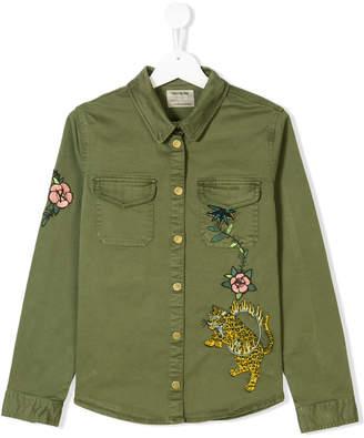 Zadig & Voltaire Kids embroidered flower shirt