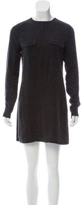 Equipment Long Sleeve Silk Dress