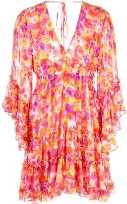 MISA Los Angeles floral ruffle dress