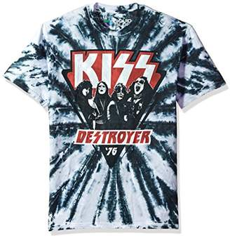 Liquid Blue Unisex-Adult's Kiss Destroyer 1976 Tie Dye Short Sleeve T-Shirt