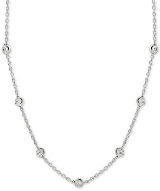 "Giani Bernini Beaded Station Chain Necklace in 18k Gold-Plated Sterling Silver, 18"" + 2"" extender"