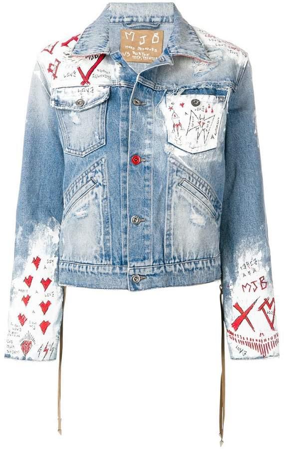 Mjb painted denim jacket