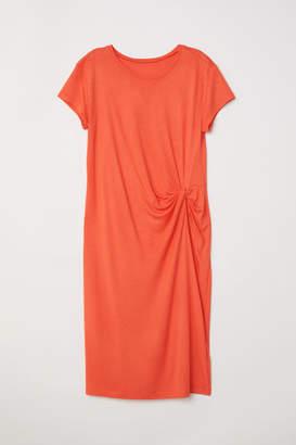 H&M Draped Jersey Dress - Red