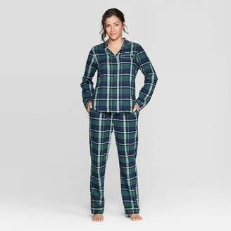 Stars Above Women's Plaid Perfectly Cozy Flannel Pajama Set - Stars AboveTM Green