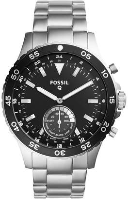 Fossil Q Men's Crewmaster Stainless Steel Hybrid Smart Watch 46MM FTW1126 $175 thestylecure.com
