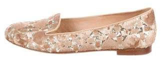 Christian Dior Sequined Cannage Smoking Slippers