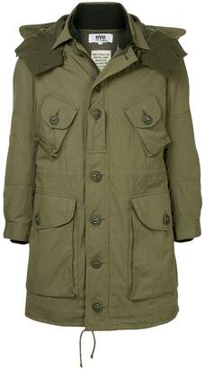 Junya Watanabe military-style hooded parka coat