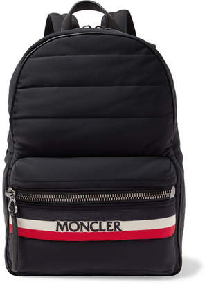 Moncler New George Webbing And Leather-Trimmed Quilted Shell Backpack