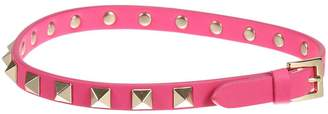 Valentino Jewel Rockstud Double Leather Bracelet With Studs