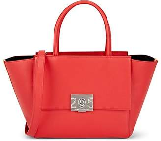 Calvin Klein Women's Bonnie Leather Shoulder Tote Bag - Red