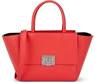 e59c74a734e Calvin Klein Women's Bonnie Leather Shoulder Tote Bag - Red