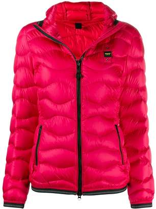 Blauer hooded puffer jacket