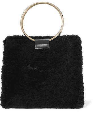 Tara Zadeh - Roya Shearling And Leather Tote - Black