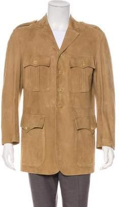 Ralph Lauren Purple Label Suede Military Jacket