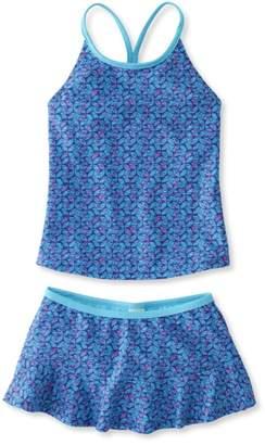 L.L. Bean L.L.Bean Girls BeanSport Skirted Tankini, Print