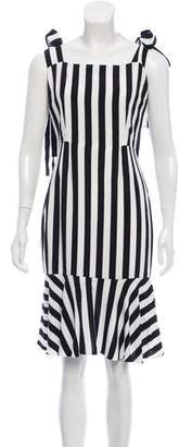 Dolce & Gabbana Striped Midi Dress