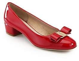 Salvatore Ferragamo Women's Vara Patent Leather Pumps