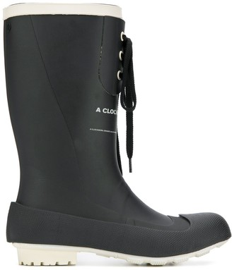 Undercover lace-up rubber boots