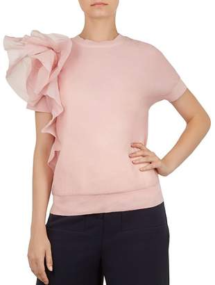 Ted Baker Anabane Ruffled Knit Top